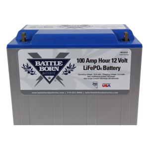 Battle Born 12V 100 AH LiFePO4 Deep Cycle Lithium Ion Battery-0