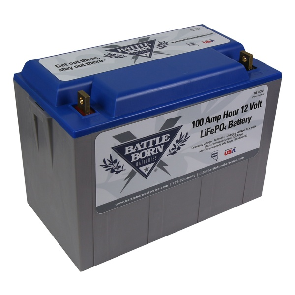 Battle Born 12V 100 AH LiFePO4 Deep Cycle Lithium Ion Battery-2210