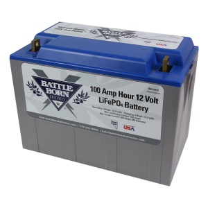 Battle Born 12V 100 AH LiFePO4 Deep Cycle Lithium Ion Battery-2211