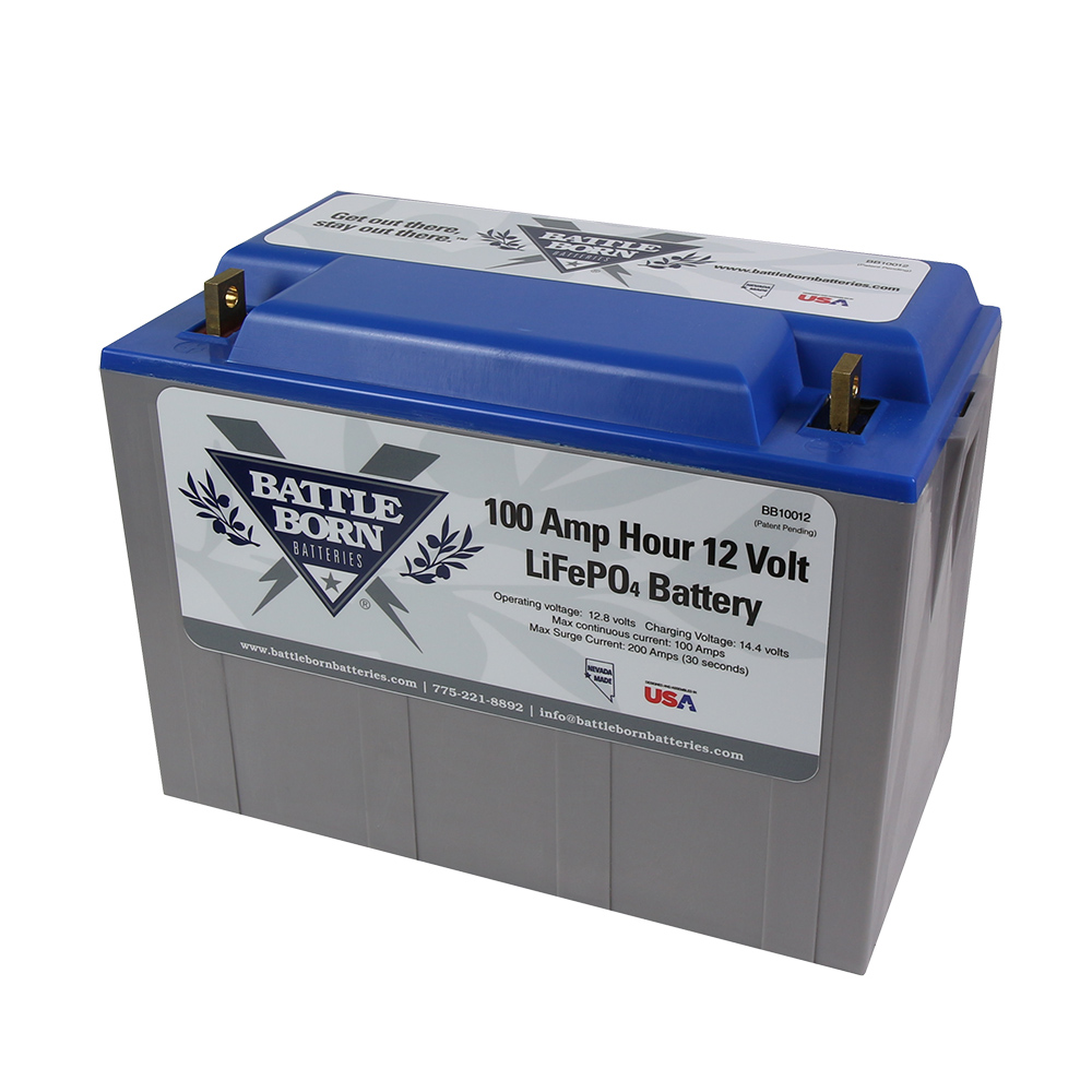 Battle Born 12v 100 Ah Lifepo4 Deep Cycle Lithium Ion Battery
