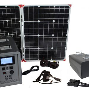 Lion Energy 1500 Watt Expandable FTB 50 Ascent Solar Generator Kit with 1 Panel & Expandable Battery Pack-0