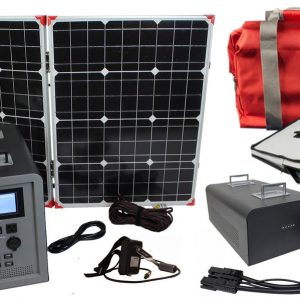 Lion Energy 1500 Watt Expandable FTB 50 Ascent Solar Generator Kit with 1 Panel, Expandable Battery Pack, & EMP Bag-0