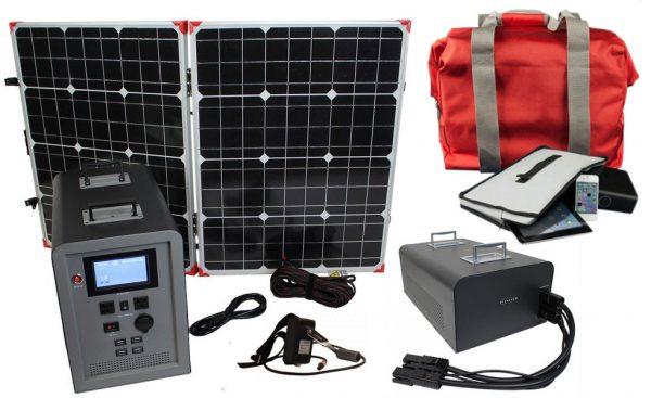 Lion Energy 1500 Watt Expandable FTB 50 Ascent Solar Generator Kit with 1 Panel, Expandable Battery Pack, & EMP Bag-0