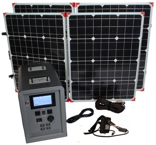Lion Energy 1500 Watt Expandable FTB 50 Ascent Solar Generator Kit with 2 Panels-0