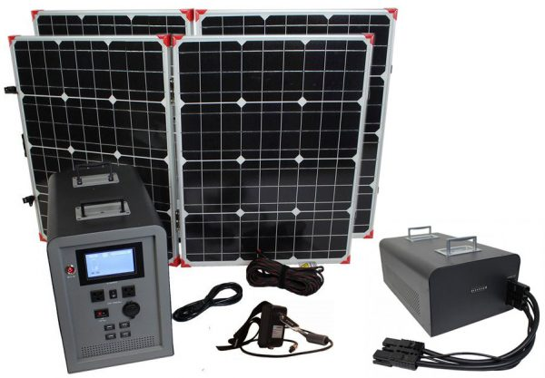 Lion Energy 1500 Watt Expandable FTB 50 Ascent Solar Generator Kit with 2 Panels & Expandable Battery Pack-0
