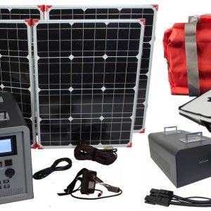 Lion Energy 1500 Watt Expandable FTB 50 Ascent Solar Generator Kit with 2 Panels, Expandable Battery Pack, & EMP Bag-0