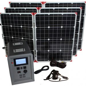 Lion Energy 1500 Watt Expandable FTB 50 Ascent Solar Generator Kit with 3 Panels-0