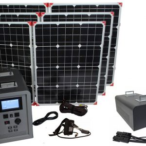 Lion Energy 1500 Watt Expandable FTB 50 Ascent Solar Generator Kit with 3 Panels & Expandable Battery Pack-0