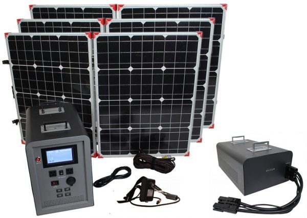 Lion Energy 1500 Watt Expandable FTB 50 Ascent Solar Generator Kit with 3 Panels & Expandable Battery Pack-0