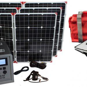 Lion Energy 1500 Watt Expandable FTB 50 Ascent Solar Generator Kit with 3 Panels & EMP Bag-0