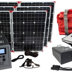 Lion Energy 1500 Watt Expandable FTB 50 Ascent Solar Generator Kit with 3 Panels, Expandable Battery Pack, & EMP Bag-0
