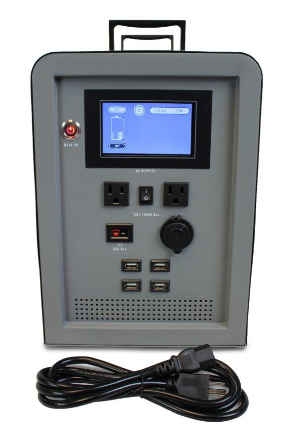 Lion Energy 1500 Watt Expandable FTB 50 Ascent Solar Generator Kit with 3 Panels & Expandable Battery Pack-2329