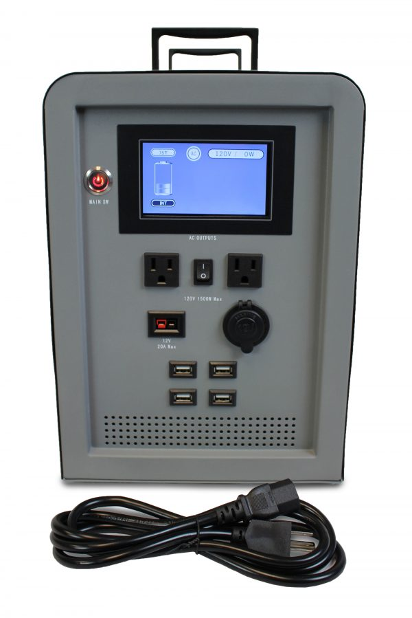 Lion Energy 1500 Watt Expandable FTB 50 Ascent Solar Generator Kit with 2 Panels & Expandable Battery Pack-2305