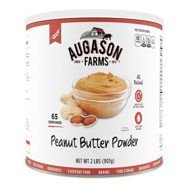 Augason Farms Dehydrated Peanut Butter Powder 65-Serving Can -0