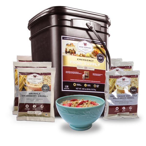 Wise Food Storage 120 Serving Breakfast Only Grab and Go Bucket-0