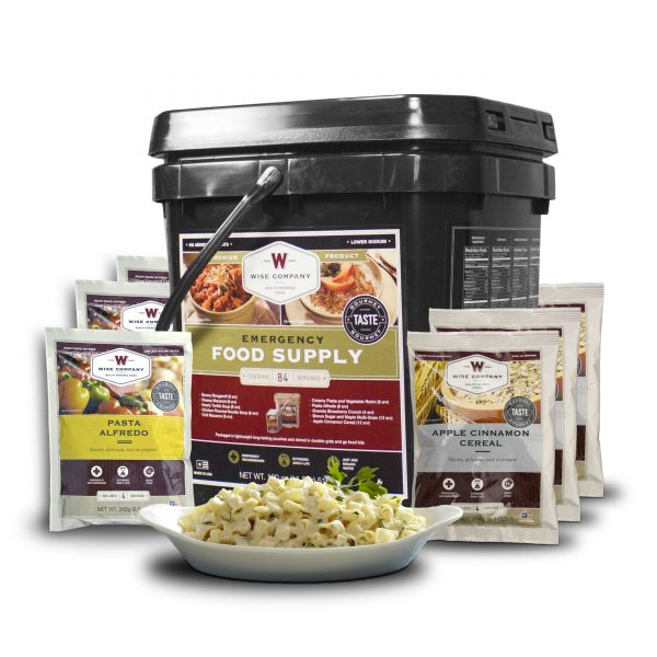 Wise Food Storage 84 Serving Breakfast and Entree Grab and Go Food Kit-0