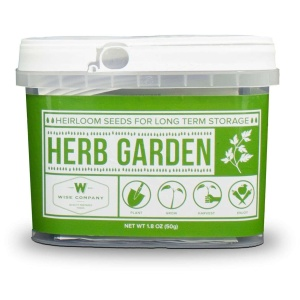 Wise Food Storage Herb Garden Heirloom Seed Bucket-0
