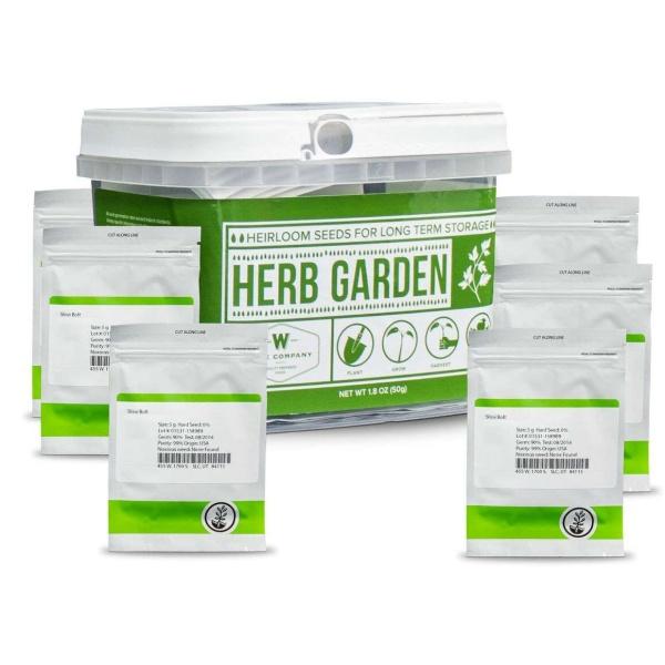 Wise Food Storage Herb Garden Heirloom Seed Bucket-2574