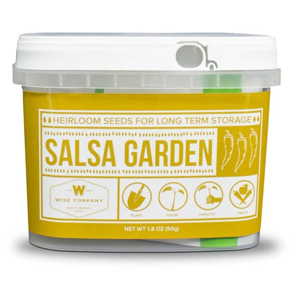Wise Food Storage Salsa Heirloom Seed Bucket-0