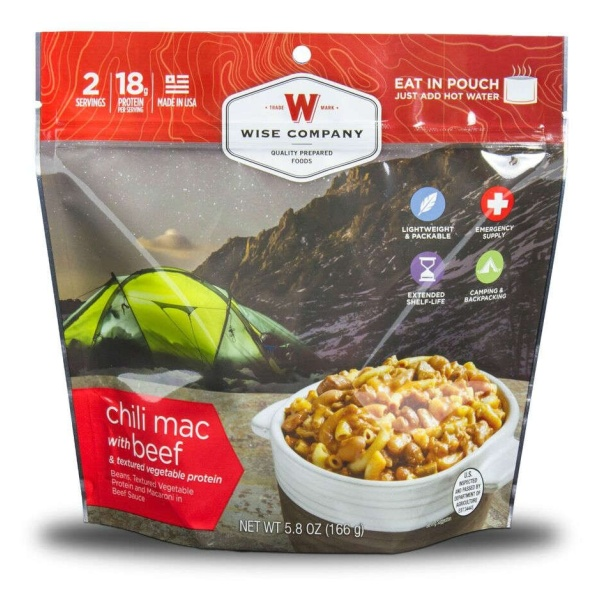 Wise Food Storage Outdoor Chili Mac with Beef Sold as 6ct Pack-0