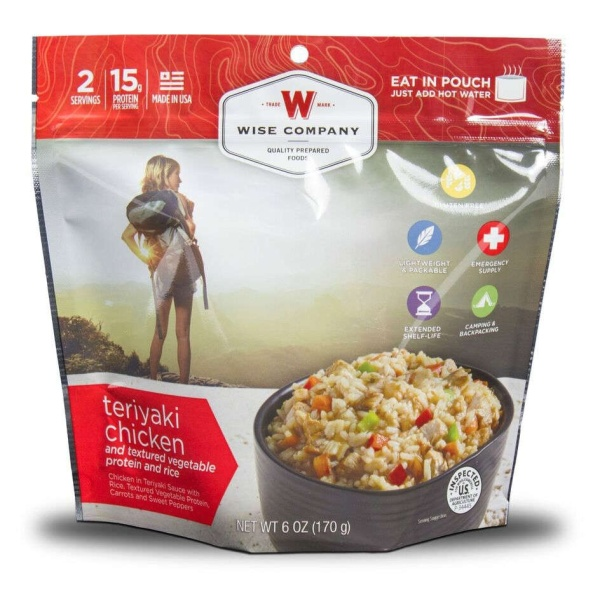 Wise Food Storage Outdoor Teriyaki Chicken Rice Sold as 6ct Pack-0