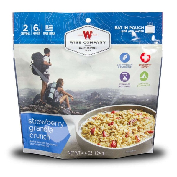 Wise Food Storage Outdoor Strawberry Granola Crunch Sold as 6ct Pack-0