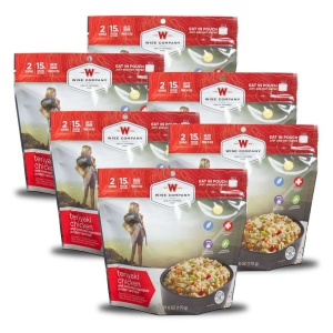 Wise Food Storage 6ct Pack - Outdoor Teriyaki Chicken Rice 2 Serving Pouch-0