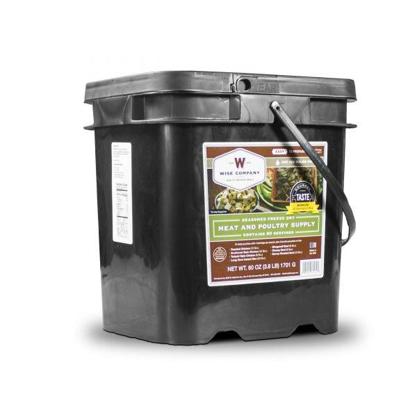 Wise Food Storage 60 Serving - 20 Bonus Rice Servings Freeze Dried Meat Bucket-0