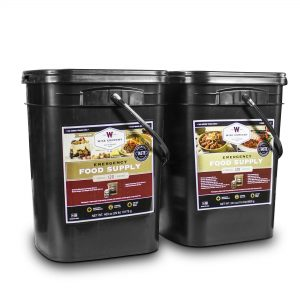 Wise Food Storage 240 Serving Package - 40 lbs - Includes 1 - 120 Serving Entree Bucket and 1 - 120 Serving Breakfast Bucket-0