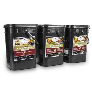 Wise Food Storage 360 Serving Package - 62 lbs - Includes 2 - 120 Serving Entree Buckets and 1 - 120 Serving Breakfast Bucket-0