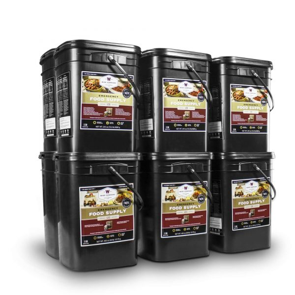 Wise Food Storage 1440 Serving Package - 240 lbs - Includes 6 - 120 Serving Entree Buckets and 6 - 120 Serving Breakfast Buckets-0