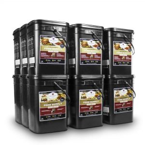 Wise Food Storage 2160 Serving Package - 372 lbs - Includes 12 - 120 Serving Entree Buckets and 6 - 120 Serving Breakfast Buckets-0