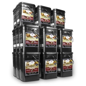 Wise Food Storage 2880 Serving Package - 480 lbs- Includes 12 - 120 Serving Entree Buckets and 12 - 120 Serving Breakfast Buckets-0