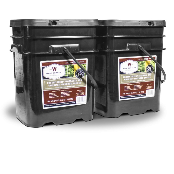 Wise Food Storage 240 Serving Freeze Dried Vegetable and Gourmet Flavored Sauces-0
