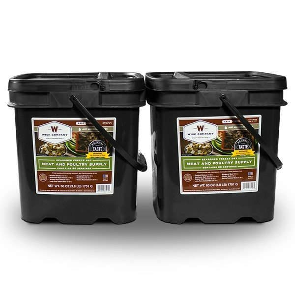 Wise Food Storage 120 Serving Meat Package Includes 2 Freeze Dried Meat Buckets-0