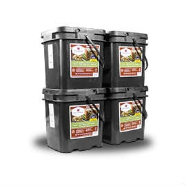 Wise Food Storage 240 Serving Meat Package Includes 4 Freeze Dried Meat Buckets-0