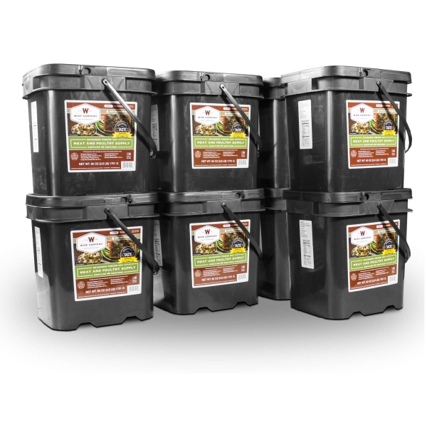Wise Food Storage 480 Serving Meat Package Includes 8 Freeze Dried Meat Buckets-0