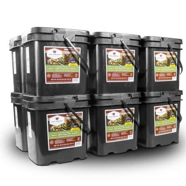 Wise Food Storage 720 Serving Meat Package Includes 12 Freeze Dried Meat Buckets-0