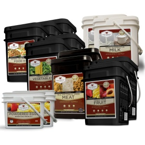 Wise Food Storage Gluten Free Premier Kit - 1 Month Supply for 1 Person - 1 GF 84 Serving,1 Milk , 1 GF Fruit, 1 GF Veggie, 1 GF Protein 1 Egg-0