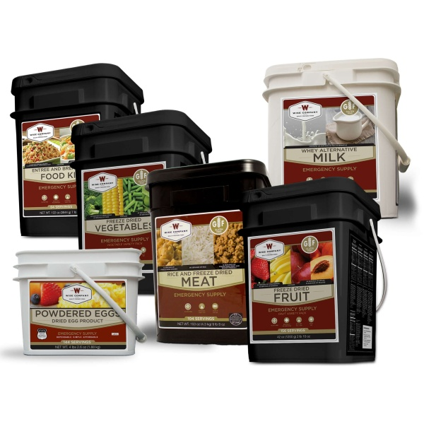 Wise Food Storage Gluten Free Deluxe Kit - 3 Month Supply for 1 Person - 3 GF 84 Serving, 2 Milk , 2 GF Fruit, 2 GF Veggie, 2 GF Protein 2 Egg-0