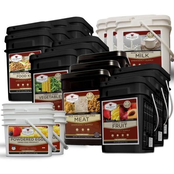 Wise Food Storage Gluten Free Ultimate Kit - 6 Month Supply for 1 Person - 6 GF 84 Serving, 3 Milk , 3 GF Fruit, 3 GF Veggie, 3 GF Protein 3 Egg-0