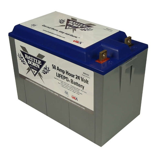 Battle Born Batteries 50Ah 24v LiFePO4 Deep Cycle Battery-0