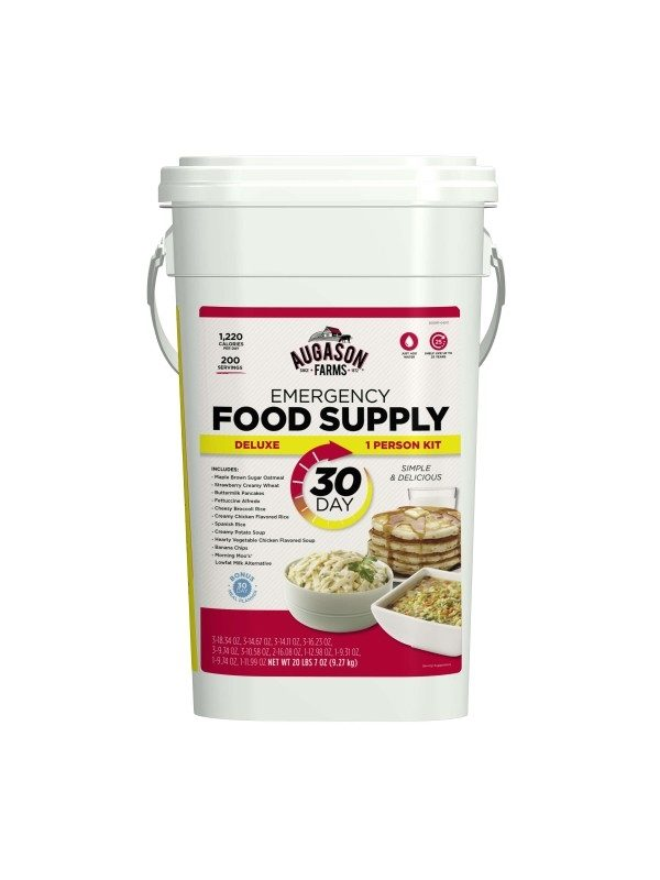 Augason Farms Deluxe Emergency 30-Day Food Supply 200 Servings (1 Person)-0