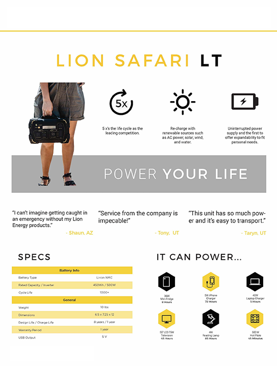 safari-lt-generator-specifications
