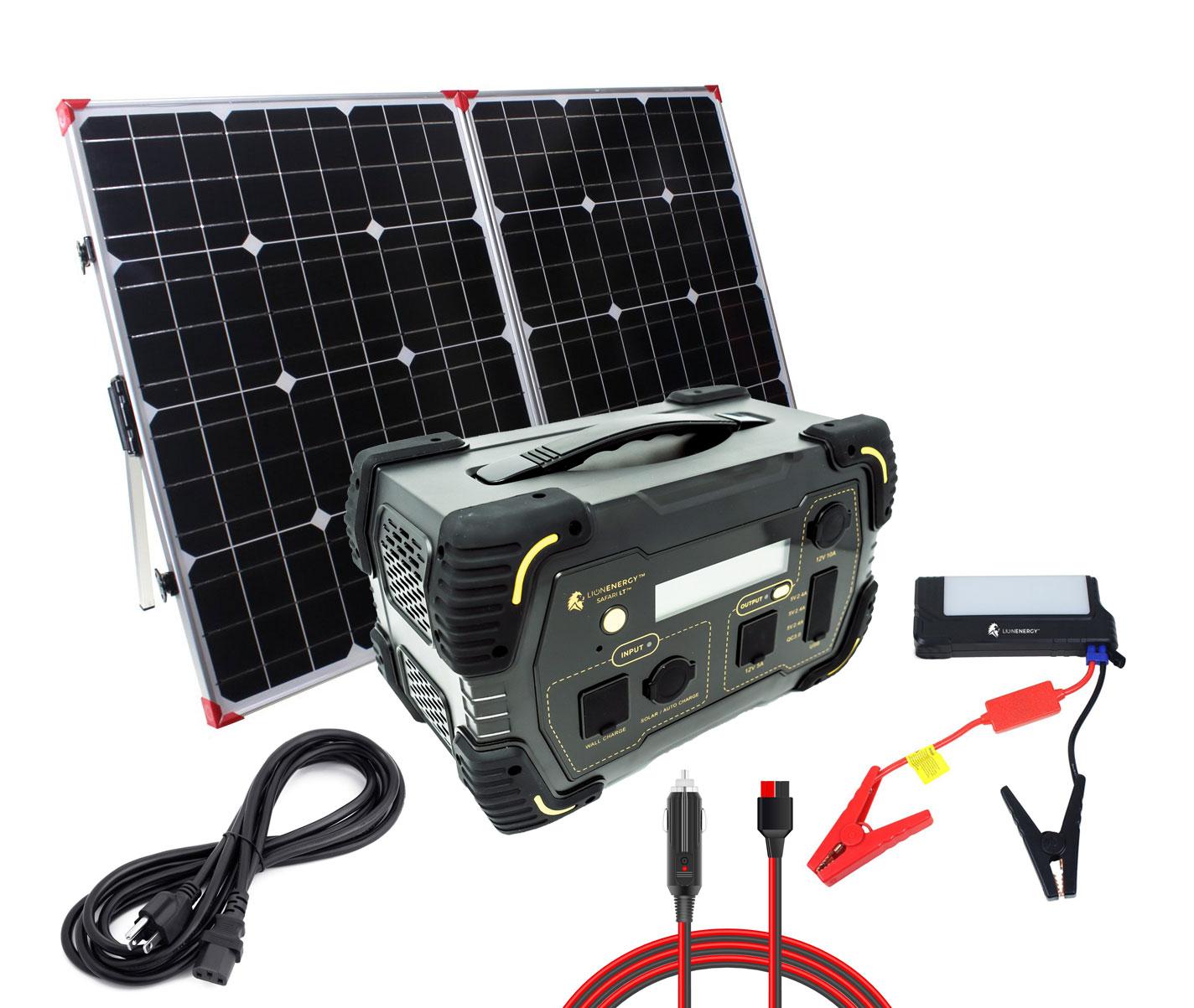 Lion Energy Lion Safari Lt Solar Generator Kit With Solar