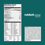 nutrient cereal nutrition facts