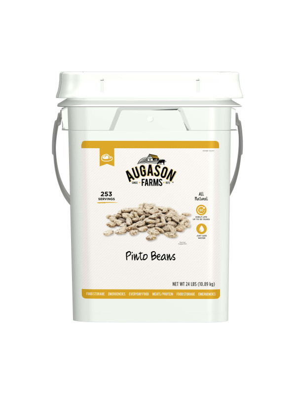 Pinto Beans in 4 gallon bucket