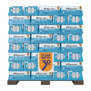 Pallet of eQuenchal water for emergencies