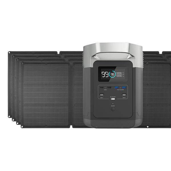 EcoFlow Delta 1300 and four solar panels kit
